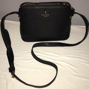 Kate Spade black buckle shoulder bag